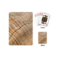 Abstract Brown Tree Timber Pattern Playing Cards (mini)  by Sapixe