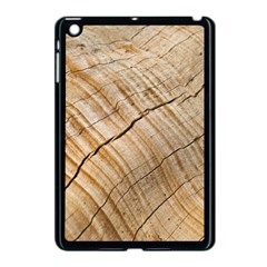 Abstract Brown Tree Timber Pattern Apple Ipad Mini Case (black) by Sapixe