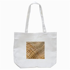 Abstract Brown Tree Timber Pattern Tote Bag (white) by Sapixe