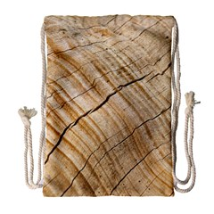 Abstract Brown Tree Timber Pattern Drawstring Bag (large) by Sapixe
