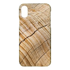 Abstract Brown Tree Timber Pattern Apple Iphone X Hardshell Case by Sapixe