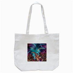 Feather Fractal Artistic Design Tote Bag (white)