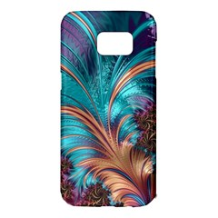 Feather Fractal Artistic Design Samsung Galaxy S7 Edge Hardshell Case
