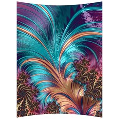 Feather Fractal Artistic Design Back Support Cushion by Sapixe