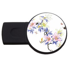 Lily Hand Painted Iris Usb Flash Drive Round (2 Gb) by Sapixe