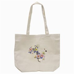 Lily Hand Painted Iris Tote Bag (cream)