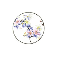 Lily Hand Painted Iris Hat Clip Ball Marker by Sapixe