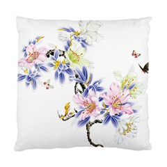 Lily Hand Painted Iris Standard Cushion Case (one Side) by Sapixe