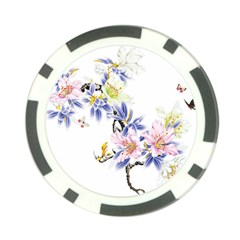 Lily Hand Painted Iris Poker Chip Card Guard (10 Pack) by Sapixe