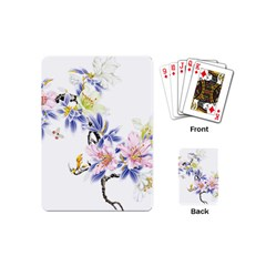 Lily Hand Painted Iris Playing Cards (mini)  by Sapixe