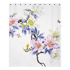 Lily Hand Painted Iris Shower Curtain 60  X 72  (medium)