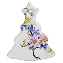 Lily Hand Painted Iris Christmas Tree Ornament (two Sides) by Sapixe