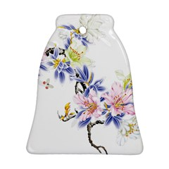 Lily Hand Painted Iris Bell Ornament (two Sides) by Sapixe