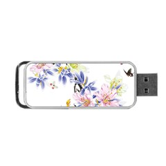 Lily Hand Painted Iris Portable Usb Flash (one Side) by Sapixe