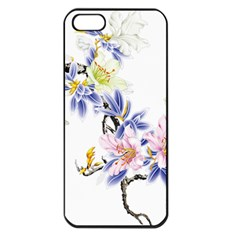 Lily Hand Painted Iris Apple Iphone 5 Seamless Case (black)