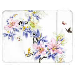 Lily Hand Painted Iris Samsung Galaxy Tab 7  P1000 Flip Case by Sapixe