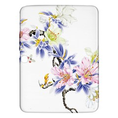 Lily Hand Painted Iris Samsung Galaxy Tab 3 (10 1 ) P5200 Hardshell Case