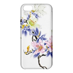 Lily Hand Painted Iris Apple Iphone 5c Hardshell Case by Sapixe