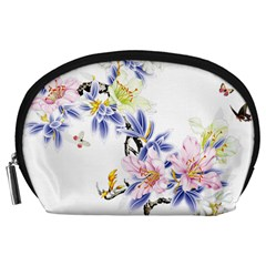 Lily Hand Painted Iris Accessory Pouches (large)