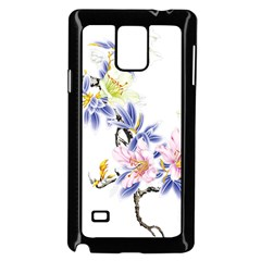 Lily Hand Painted Iris Samsung Galaxy Note 4 Case (black)
