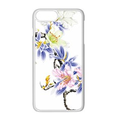 Lily Hand Painted Iris Apple Iphone 8 Plus Seamless Case (white)