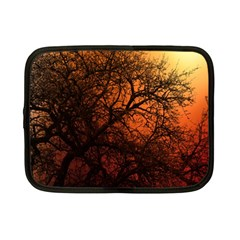 Sunset Silhouette Winter Tree Netbook Case (small)