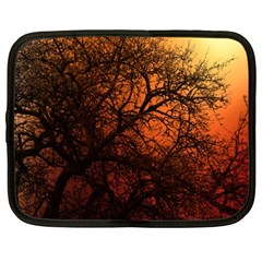 Sunset Silhouette Winter Tree Netbook Case (large)
