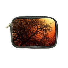 Sunset Silhouette Winter Tree Coin Purse