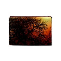 Sunset Silhouette Winter Tree Cosmetic Bag (medium)