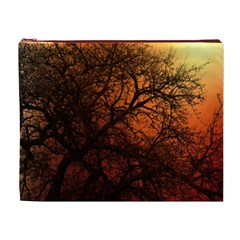 Sunset Silhouette Winter Tree Cosmetic Bag (xl)