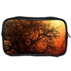 Sunset Silhouette Winter Tree Toiletries Bag (one Side)