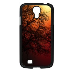 Sunset Silhouette Winter Tree Samsung Galaxy S4 I9500/ I9505 Case (black)