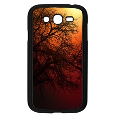 Sunset Silhouette Winter Tree Samsung Galaxy Grand Duos I9082 Case (black)
