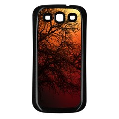 Sunset Silhouette Winter Tree Samsung Galaxy S3 Back Case (black)