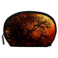 Sunset Silhouette Winter Tree Accessory Pouch (large)