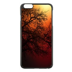 Sunset Silhouette Winter Tree Iphone 6 Plus/6s Plus Black Enamel Case