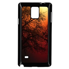 Sunset Silhouette Winter Tree Samsung Galaxy Note 4 Case (black)