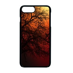 Sunset Silhouette Winter Tree Iphone 7 Plus Seamless Case (black)