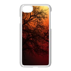 Sunset Silhouette Winter Tree Iphone 7 Seamless Case (white)