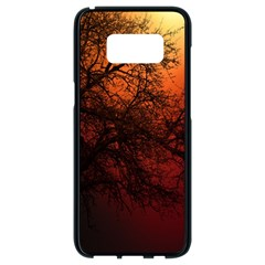 Sunset Silhouette Winter Tree Samsung Galaxy S8 Black Seamless Case