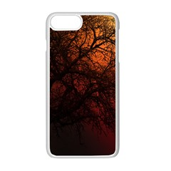 Sunset Silhouette Winter Tree Iphone 8 Plus Seamless Case (white)