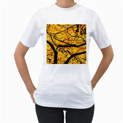 Golden Vein Women s T Shirt (white) (two Sided) by FunnyCow