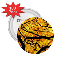 Golden Vein 2 25  Buttons (100 Pack)