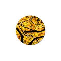 Golden Vein Golf Ball Marker (4 Pack) by FunnyCow