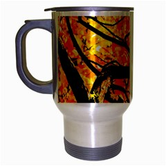Golden Vein Travel Mug (silver Gray) by FunnyCow