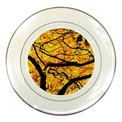 Golden Vein Porcelain Plates