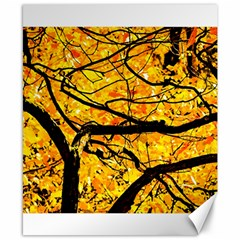 Golden Vein Canvas 8  X 10  by FunnyCow