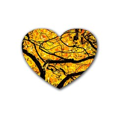 Golden Vein Heart Coaster (4 Pack)