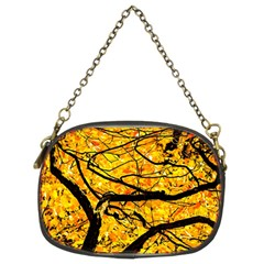 Golden Vein Chain Purses (two Sides)  by FunnyCow