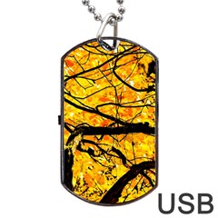 Golden Vein Dog Tag Usb Flash (two Sides) by FunnyCow